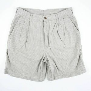 Woolrich Mens Casual Shorts Size 34 Tan Flat Front